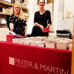 Photograph of Emily and Zoe at Pinter and Martin offices in London