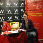Katie Brooke signing copies of Whoosh at Waterstones Carlisle